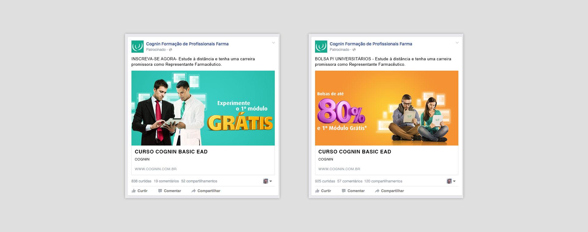 Campanha Facebook Ads Cognin